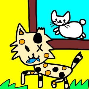 【お絵かき】野良猫らしい野良猫