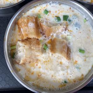 高雄グルメ 豆乳が濃く大豆の風味を味わえる鹹豆漿(豆乳スープ)『田記豆漿』