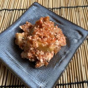 台湾鳳梨+クリームチーズ+キムチのおつまみを作るも微妙な出来でした