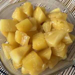 金鑽鳳梨のコンポート!味の薄いパイナップルを砂糖で煮たら大成功!