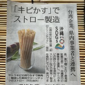 台湾×沖縄のSDGs!サトウキビ搾りかすストロー&パイナップル繊維ストロー