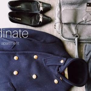 50代少ない服で暮らす〜Pコートのもう一つの着こなし