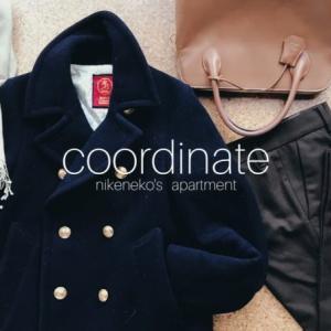 Pコートとクロップ丈フレアパンツで軽やかお出かけコーデ