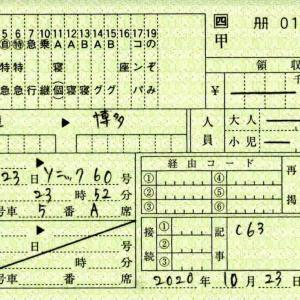 【POS・中継発売・料金補充券】端岡駅で購入した乗車券類