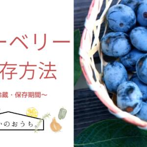 ブルーベリーの保存方法|冷凍・冷蔵・期間と保存食レシピ!干して長期保存