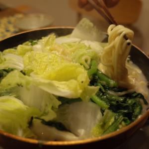 アジの一夜干し弁当と夜ごはんの鍋