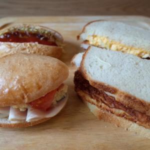 サンドイッチの昼ごはんと串揚げ