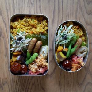 カレーピラフ弁当と家焼肉