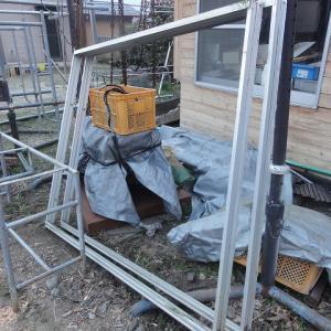 新飛行場開拓 テント小屋用にアルミサッシをゲットした