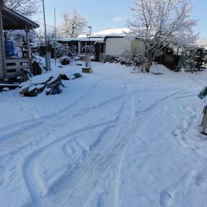 ロータリー雪かき機が壊れた