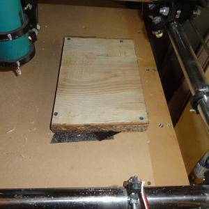 木工用CNCで楢を削ってみた