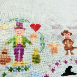 """追いつきました(*'∀') """"SAL Emerald City"""" Owl Forest Embroidery"""