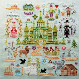 """旅の終わり """"SAL Emerald City"""" Owl Forest Embroidery"""