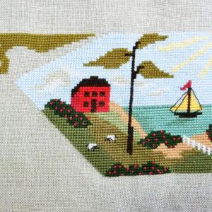 "素敵な海辺の景色 ""Time For Seasons SAL"" By The Bay Needleart"