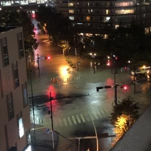 多摩川氾濫しました