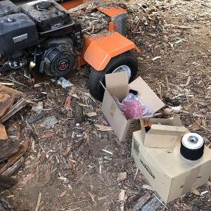 薪割り機のキャブ交換