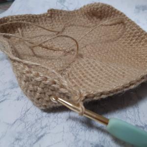 麻ひもと帆布でトートバッグを作りました