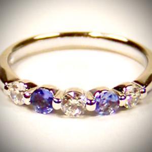 ♥タンザナイト&ダイヤモンド♥リング 指輪