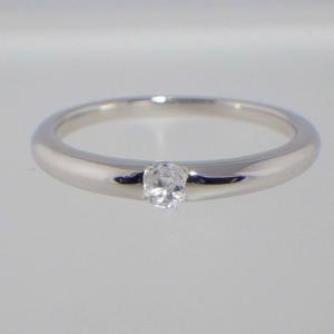 ❤︎ ≪シルバー925≫天然石 一粒 リング【ホワイトトパーズ】❤︎指輪