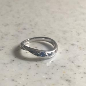❤︎ ≪シルバー925≫ワンツイストリング【サファイヤ 】指輪❤︎