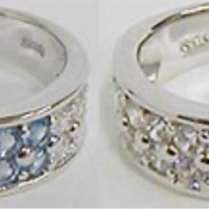 ❤︎ ≪シルバー925≫総パヴェダイヤモンドフラワー リング❤︎指輪