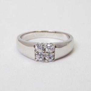❤︎ ≪シルバー925≫ パヴェダイヤモンドスクエアリング❤︎指輪