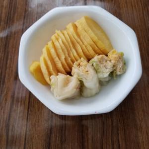 白菜の漬物と沢庵