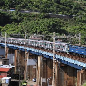[2020/05/24] EF65 2097牽引の東武70090系甲種@石橋鉄橋