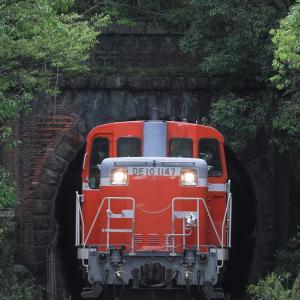 [2021/04/30] DE10 1147牽引の津山工臨返空@福渡トンネル