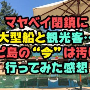 """マヤベイ閉鎖に大型船と観光客…ピピ島の""""今""""は汚い?行ってみた感想"""