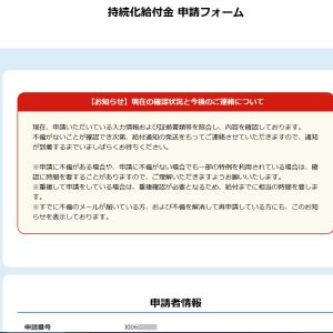 持続化給付金マイページの赤枠が消えたら入金される?深夜に届いた謎メールとは