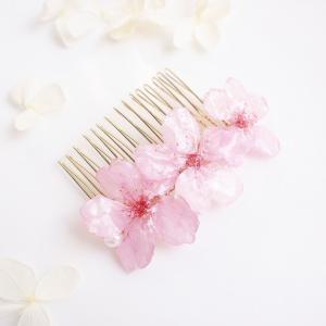 【限定】Early Bloom for hair. 本物のお花 早咲き桜とパールの髪飾り