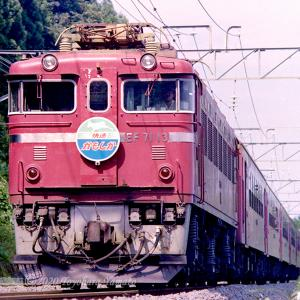 EF71,ED78快速 かもしか など(1989/08奥羽本線)