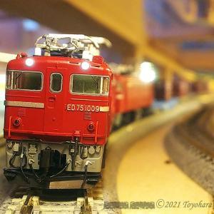 ED75 1009窓弄りと雨降り事件 [鉄道模型]