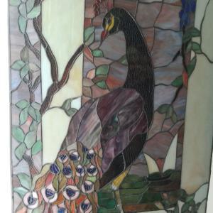 鳥のステンドグラス