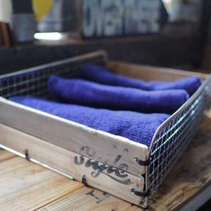 100均焼き網でタオル収納バスケットを作ってみました