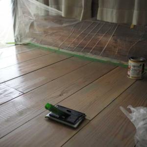 カフェ板にオスモカラーフロアークリア―を塗ってみました☆ナチュラル×レトロな義母のアトリエを作ろう