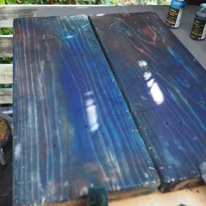 【中編】市販のテーブルを古道具風ミニテーブルにリメイク♪