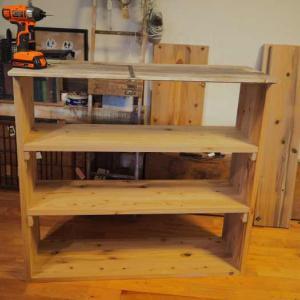 コーナークランプを使って木枠づくり☆オープン式食器棚を作ろう♪