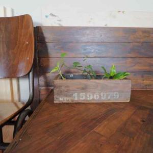 【完成】寄せ集め端材でヴィンテージ風木箱を作ってみました♪