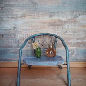 アイアンペイントの新色でベビー椅子を大人可愛くリメイク♪