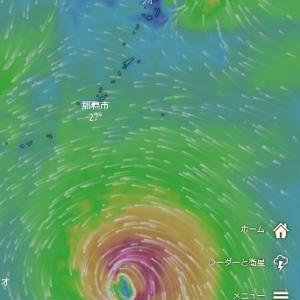 台風進路変更❗️❗️