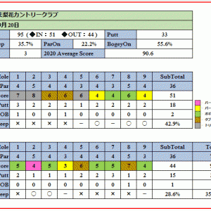 コンペ向きのさいたま梨花カントリークラブを攻略!ラウンド報告(2020-09-20)