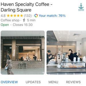 【シドニー生活】シドニーお洒落カフェ✴︎Haven Special Coffeeへ