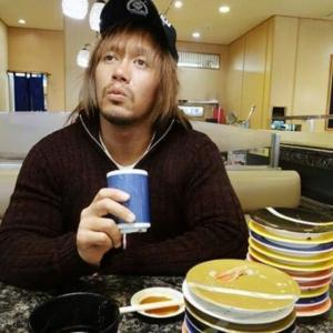 """内藤哲也が回転寿司店で""""暫定最下位""""からの逆襲を誓う!"""