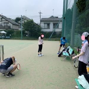 ☆暑い中、テニス