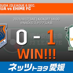 愛媛FC 2021年第8節 アウェイ大宮戦