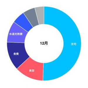 12月の家計簿。手取り16万の生活。。