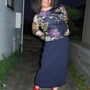 珍しくロングタイトスカート その2
