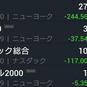 NY市場 3週連続 陰線